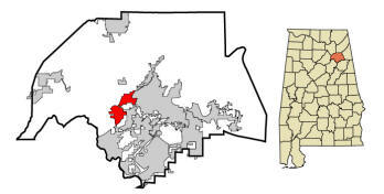 Attalla City Within Etowah County Map