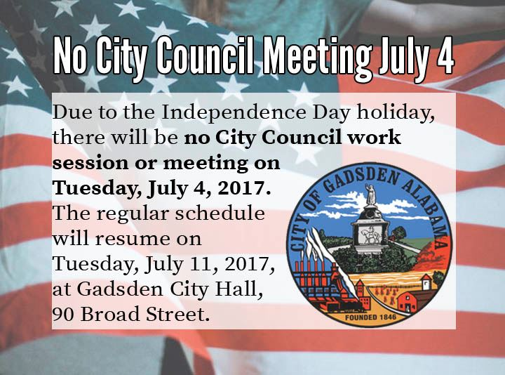 July 4th Council Meeting cancelled