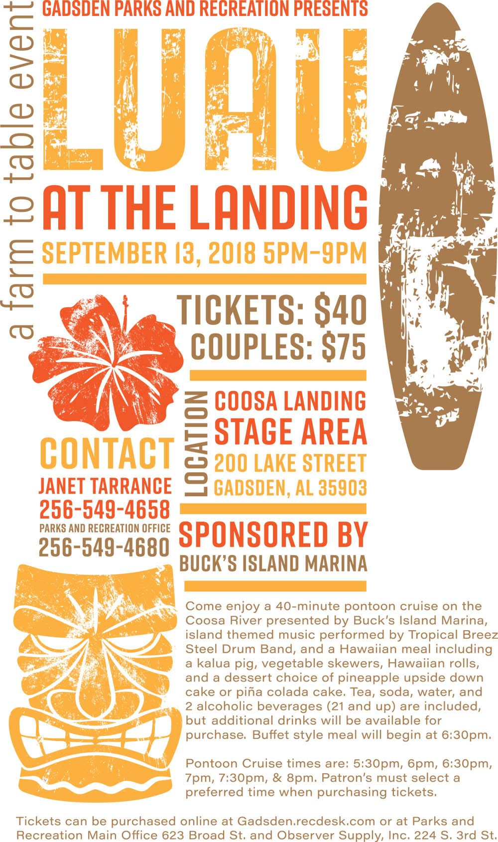 luau at the landing poster