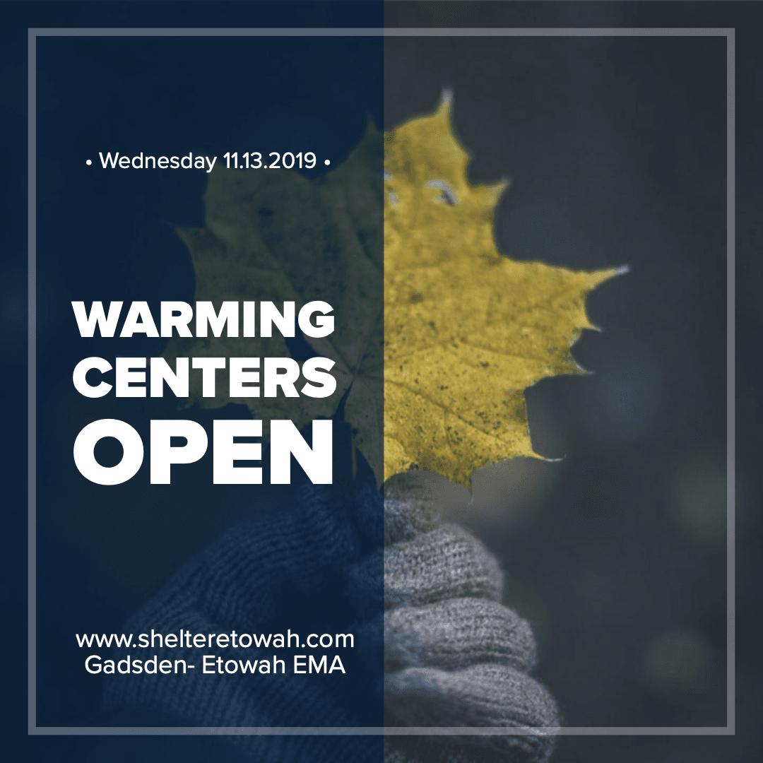 Warming Centers Open